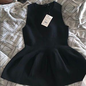 Theory Black Shaped Shell Shirt